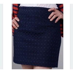 Jcrew Navy Eyelet Lace Preppy Y2K Mini Skirt
